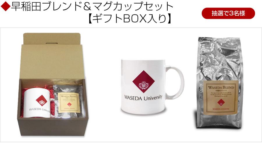 早稲田大学オリジナルグッズ「早稲田ブレンド&マグカップセット【ギフトBOX入り】」
